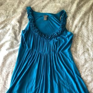 Blue Baby Doll Tank Top size M